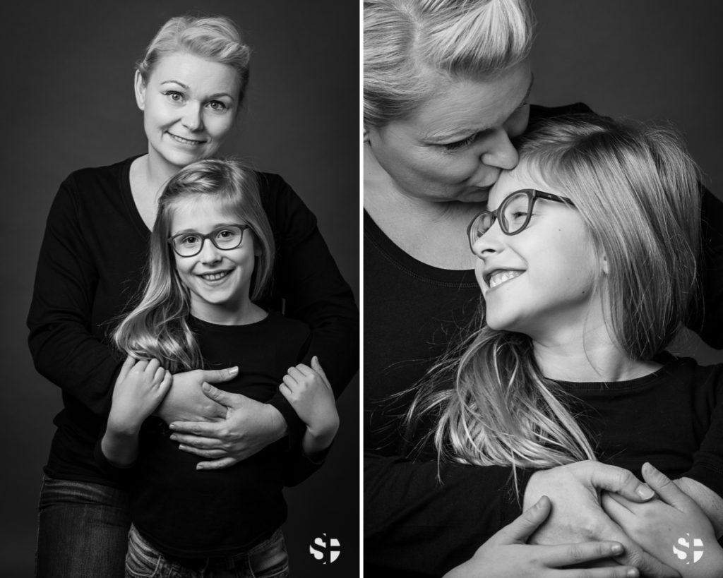 Familienfotos in schwarz-weiss