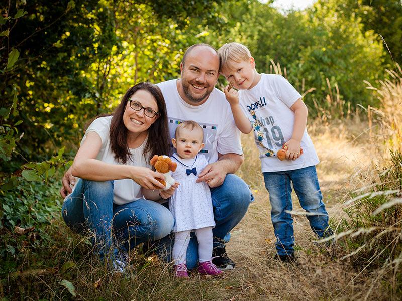 Fotoshooting natur Familie