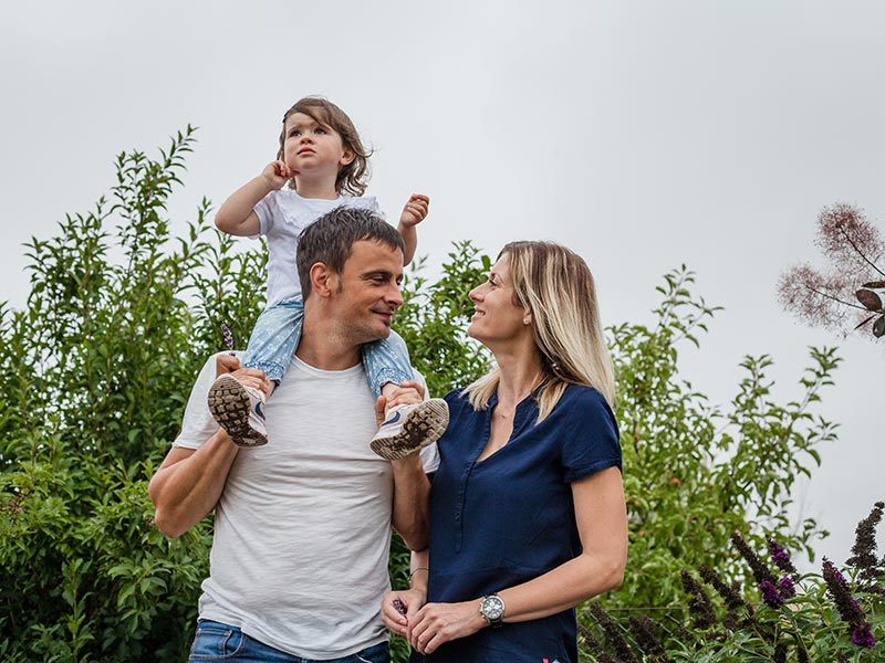 Familienfoto Natur