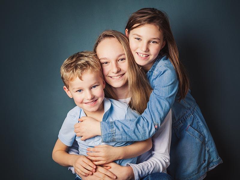 Geschwister Fotoshooting Fotostudio Meißen