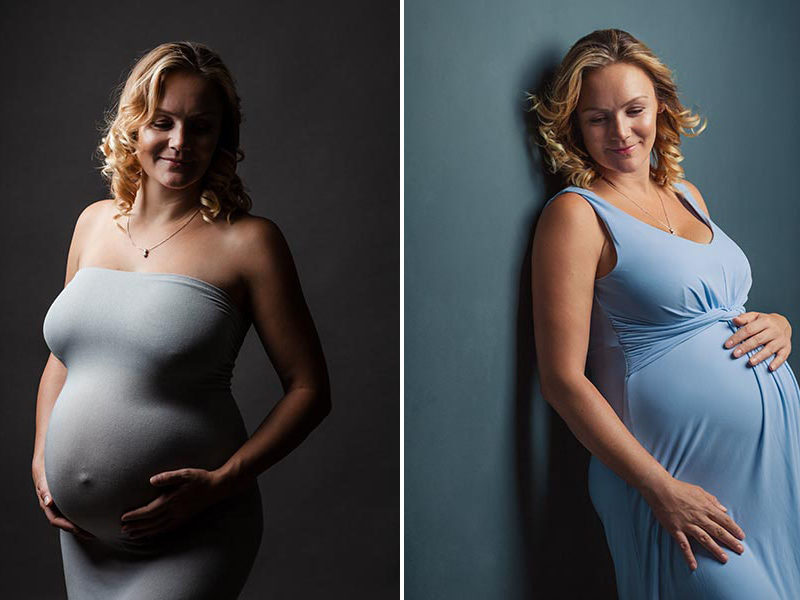 Foto shooting Schwangerschaft im Fotostudio in Meißen