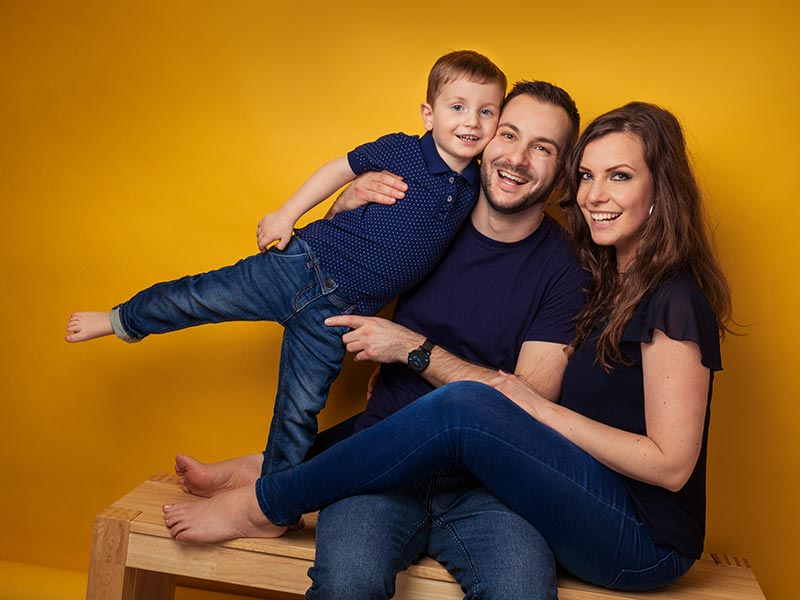 Familie Fotoshooting lachen Spaß
