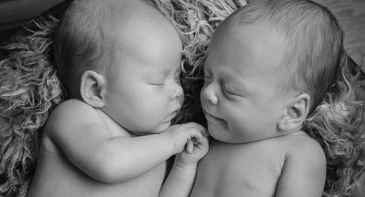 Babyfoto Zwillinge