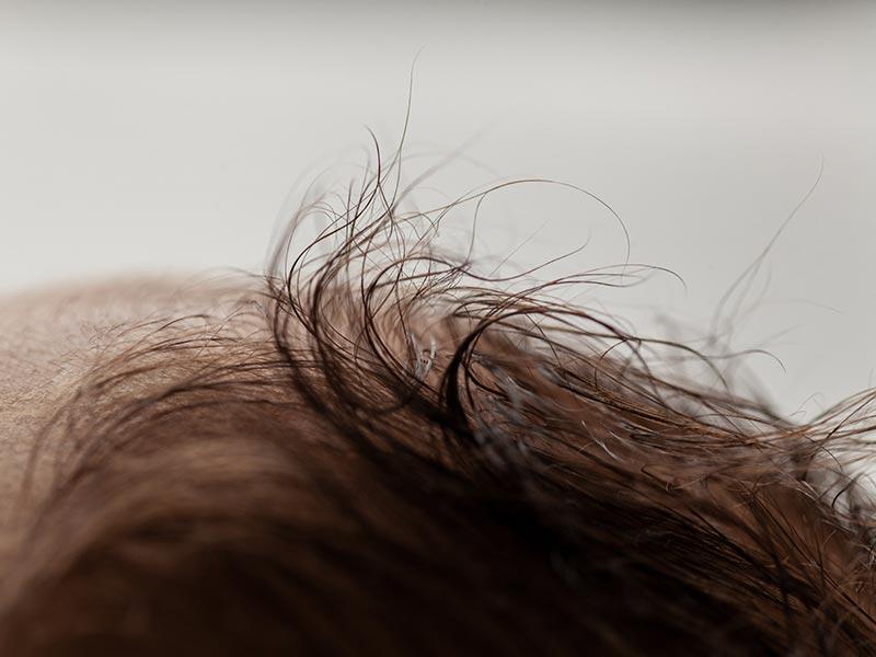 Babyfoto Fotograf Meißen, Detail Haare