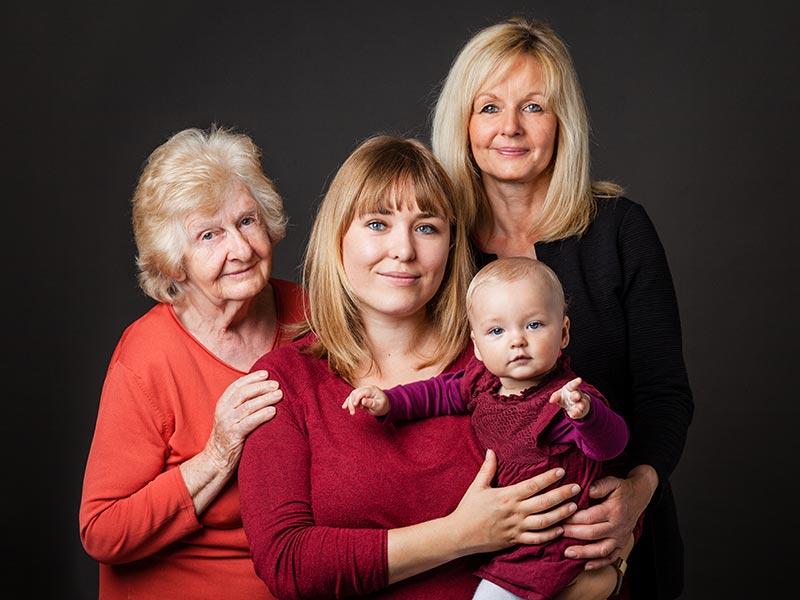 Generation Fotoshooting Familie