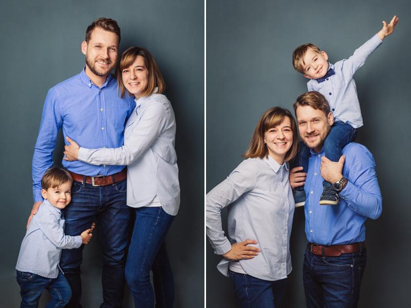 Familie Fotoshooting im Fotostudio