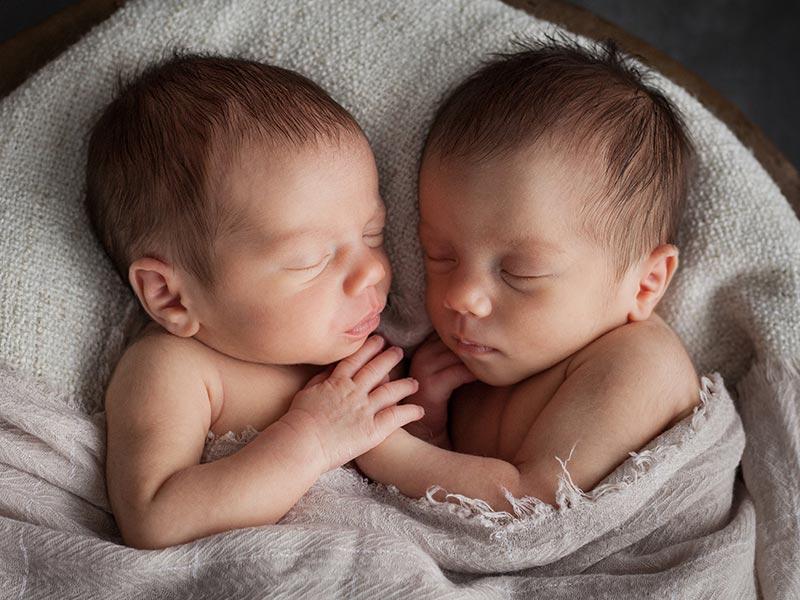 Zwillinge Fotoshooting Baby