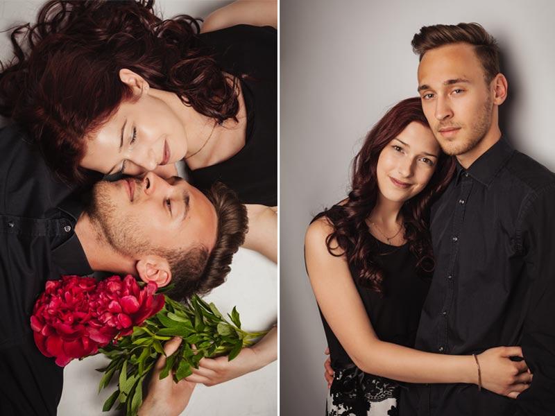Portraitfoto Paar im Fotostudio in Meißen